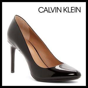 Calvin Klein Salene Black Patent Pump